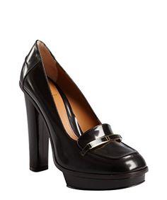 f8e994780 Fendi Women s Burnished Brown Leather Logo Platform Loafers US 9 (EUR 39)