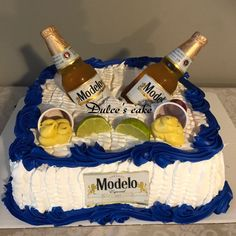 Beer Birthday Party, Mexican Fiesta Birthday Party, 25th Birthday Cakes, 30 Bday Ideas, Wooden Cupcake Stands, Beer Can Cakes, Birthday Party Decorations For Adults, Tres Leches Cake, Cakes For Men