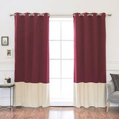 Best Home Fashion, Inc. Colorblock Insulated Striped Blackout Thermal Grommet Curtain Panels Color: Burgundy and Beige Thermal Curtains, Grommet Curtains, Blackout Curtains, Curtain Panels, Kids Curtains, Colorful Curtains, Drapes Curtains, Custom Kitchen Cabinets, Custom Kitchens