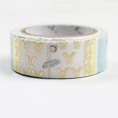 Ballet Swan Lake Foil Masking Tape • Shinzi Katoh Design Japanese Washi Tape