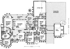 Open One Story House Plans | and amenities the house is a french country single story
