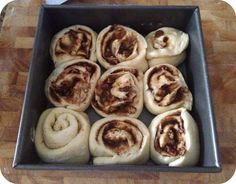 cinnamon rolls risen