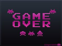 Space-Invaders-wallpaper-game-over by ShadowBott on DeviantArt