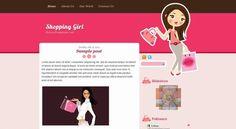 Shopping Girl – Blogger Template  Shopping Girl – Blogger Template feminino, beleza, moda, compras.