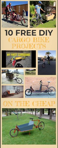 I am planning to do a cargo bike myslelf. That's why I did some research and wrote article with 10 different free cargo bike plans. If you read this article you will understand that it is much much easier than you think. I would lik Trailer Diy, Bike Trailer, Cargo Trailers, Homemade Trailer, Electric Cargo Bike, Electric Tricycle, Velo Cargo, Build A Bike, Bicycle Workout