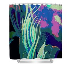 Multicolored Melody Waves Shower Curtain by Faye Anastasopoulou. This shower curtain is made from polyester fabric and includes 12 holes at the top of the curtain for simple hanging. The total dimensions of the shower curtain are wide x tall. Beautiful Modern Homes, Fancy Houses, Pattern Pictures, Curtains With Rings, Curtains For Sale, My Themes, Teal, Purple, Basic Colors