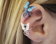 Custom Color Butterfly Ear Cuff - Wire Wrap Earcuff Jewelry Butterfly Jewelry