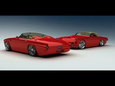 thunderbird | 1955 Ford Thunderbird Custom from Vizualtech - Duo Red - 1024x768 ...