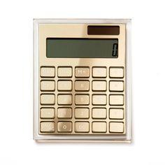 Acrylic + Gold Calculator | russell+hazel