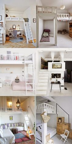 I have a wish-list of things I would love to have one day in a home.  You know the romantic type of things that make a place really special?  Maybe even a little magic?  A built-in loft bed is one of those magical type of details because it captures the imagination the way a tree house does.