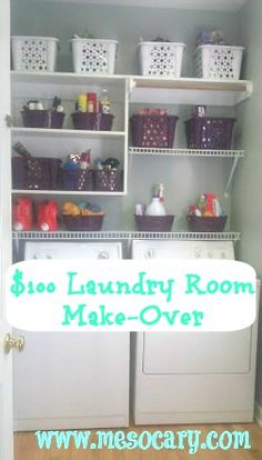 $100 laundry room updated