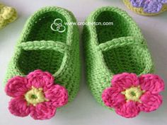 Handmade, Soft Leather Baby Shoes and Crocheted Baby Shoes, Custom