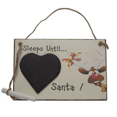 Wooden Sleeps 'til Santa / Countdown to Christmas Sign (18cm) in Home, Furniture & DIY, Celebrations & Occasions, Christmas Decorations & Trees | eBay