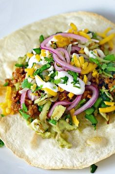 """Crispy Ground Turkey Tostadas 
