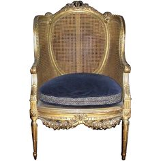 Louis XVI Style Armchair | From a unique collection of antique and modern armchairs at https://www.1stdibs.com/furniture/seating/armchairs/
