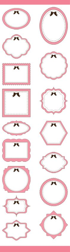 A set of cute pink digital frames clip art.  For scrapbooking, wall art, handmade cards, invitations, banners, logos and other designs.  Great DIY craft idea and inspiration clip art.