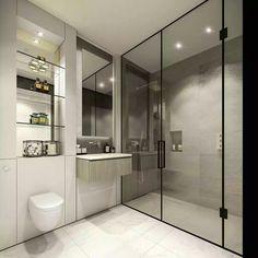 25 Trendy Bathroom Shower Screen Walk In Bathroom Design Small, Bathroom Layout, Bathroom Interior Design, Bathroom Ideas, Bad Inspiration, Bathroom Inspiration, Modern Shower, Modern Bathroom, Toilet Design