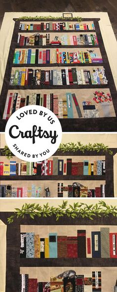 Belle would love the detail in this lifelike bookcase quilt, and so do we! It's from a maker just like you! Click to ask questions, show the project some love and even find out which Craftsy class they used to make it.