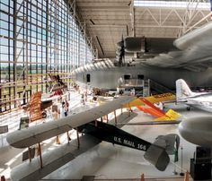 Spend a day at the Evergreen Aviation and Space museum outside Portland OR.