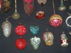 25 Stuk Vintage Antieke Duitse Geblazen Glas Figurale Ornament van de Kerstboom Lot   eBay