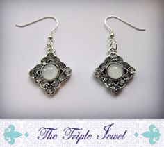 Vintage Style Silver Finished Metal with by TheTripleJewel on Etsy, $12.00