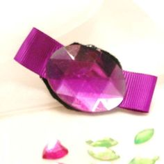 Purple Rhinestone Egg Bow Clip by beautifulswagstore on Etsy, $5.80