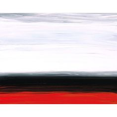 Red Abstract Painting 36x48 White Horizon Gray Black Ultra Modern Landscape Art Painting Big 36x48 Canvas Contemporary 36x48 Artwork