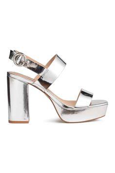 Sandales à plateau - Argenté - FEMME   H&M FR 1