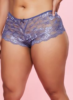 M/&S Nina Lace High Rise Shorts Red Knickers Size 6 Size 22 New Tags £10