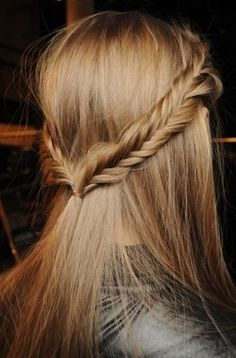 Im all about the fishtail braid right now, and I love this twist of doing it on top :)