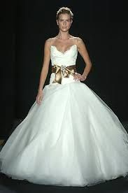 My Monique Lhuillier wedding gown (2006 collection).
