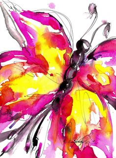 Butterfly Song 6 Original abstract by KathyMortonStanion on Etsy