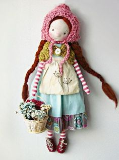 Fabric Toys, Polymer Clay Dolls, Sewing Projects For Kids, Sewing Dolls, Waldorf Dolls, Soft Dolls, Doll Crafts, Handmade Toys, Doll Patterns