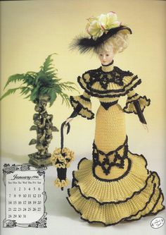 Miss January 1996 Going Away Frock Crochet by KnitKnacksCreations