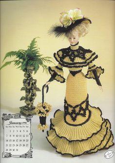 Miss January 1996 Going Away Frock Crochet by KnitKnacksCreations