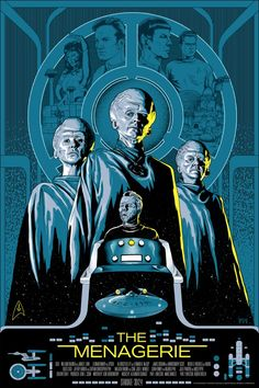 An amazing poster by Mike Saputo for one of my favorite Star Trek episodes, The Menagerie.