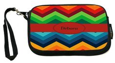 UKBK Dalton Name on Fall Colors Chunky Chevron - Neoprene Clutch Wristlet with Safety Closure - Ideal case for Camera, Cell Phone, Gameboy, Passport, Cosmetics case, Universal Cell Phone Case etc.. >>> Awesome product. Click the image