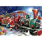 #9: Telisii 5D Diamond Painting DIY Rhinestone Embroidery Christmas Painting Cross Stitch for Home Wall Decor Craft Christmas Train 30x40cm