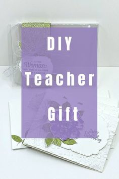 I've got a DIY Teacher gift that is fun to make and beautiful to give. These handmade greeting cards are useful for anyone and packaged so perfectly. Watch the tutorial at www.lisasstampstudio.com #diyteachergift #christmasgiftsforteachers #budgetfriendlygifts #handmadegifts #lisacurcio #lisasstampstudio #stampinupgifts