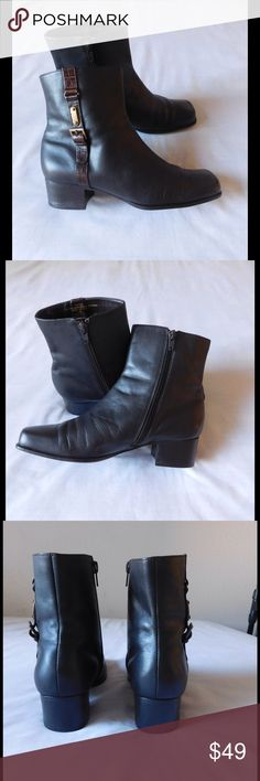 Leather! Splendid Brown Booties W/Buckles & Zipper Almost New. These pair of booties are spectacular and unique. Soft and comfy material. Gorgeous color and exquisite design/decoration. Size 9M - Save $$$ on bundles. Alpine  Shoes Ankle Boots & Booties