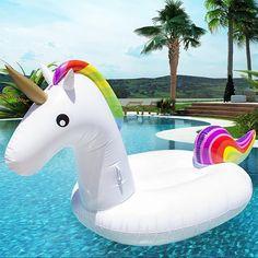 Zwembad float grote regenboog unicorn275cm