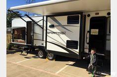 $125 per night, Sleeps 8, exterior 2015 Venture Rv Sporttrek Argyle, TX Argyle Tx, Camping In Texas, Trailer Storage, Semi Trailer, Rv Rental, Kansas City, Recreational Vehicles, Exterior, Night