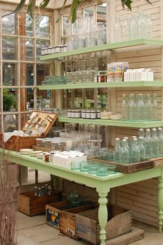 Glass Bottles on Display at Terrain