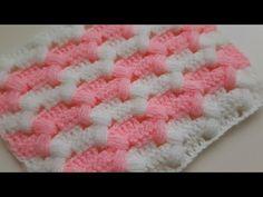 Cross Pistachio Baby Blanket & Crochet Two Color Baby Blanket Models – Harika El işleri-Hobiler Crochet Blanket Patterns, Baby Blanket Crochet, Crochet Stitches, Crochet Crocodile Stitch, Crochet Tablecloth, Crochet Videos, Crochet Lace, Diy And Crafts, Retro