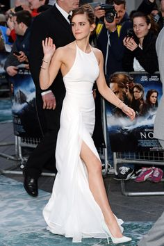 Emma Watson White Dress - Red Carpet Pictures