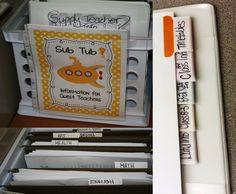 Preparing for a Substitute Teacher - a detailed list of how to prepare of your substitute teacher.