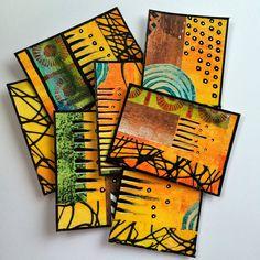 ellen vargo ... ten thirty-six art: Scribble ATC's