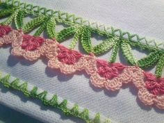 Fibre Arts: Beautiful crochet edging: SwEEt Inspiration!