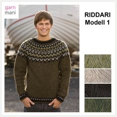 28-03 RIDDARI Modell 1 – Garnmani.no