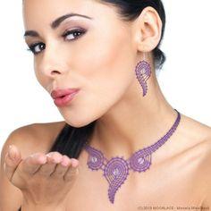 Tatting Jewelry, Lace Jewelry, Textile Jewelry, Jewelery, Jewelry Accessories, Lace Earrings, Lace Necklace, Crochet Earrings, Crochet Jewelry Patterns